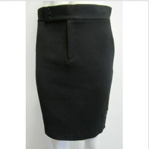 RALPH LAUREN PURPLE LABEL Black Pencil Skirt sz 4